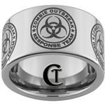 12mm Pipe Tungsten Carbide Biohazard Ring Design