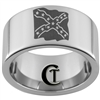 12mm Pipe Tungsten Carbide Confederate Flag Design