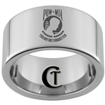 12mm Pipe Tungsten Carbide Military POW MIA Remembrance Design Ring.