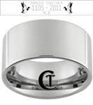 Custom Duck Band Ring 12mm Pipe Tungsten Carbide Custom Duck Band Design