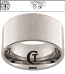 12mm Pipe Tungsten Carbide Military White Laser Custom Design Ring.