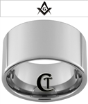 14mm Pipe Tungsten Carbide Masonic Design