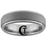 6mm Pipe One-Step Matte Finish Tungsten Carbide Ring