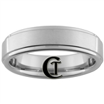 6mm Pipe One-Step Satin Finish Tungsten Carbide Ring
