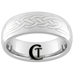 **Clearance** 8mm Dome Tungsten Carbide Celtic Knot Design - Sizes 9
