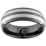**Clearance**  8mm Black Dome Tungsten Carbide Laser Design - Limited Sizes