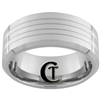 **Clearance**10mm Beveled Tungsten Carbide Laser Design - Sizes 6, 11 1/2