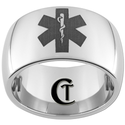 **Clearance** 12mm Dome Tungsten Carbide Paramedic Design - Sizes 10 1/2