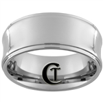 **Clearance** 8mm Concave 1-Step Tungsten Carbide Ring - Sizes 8 & 11