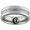 **Clearance** 7mm Concave Pipe Tungsten Carbide Ring -Limited Sizes - 10