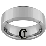 **Clearance** 8mm Side-Beveled Tungsten Carbide Beveled Ring -Limited Sizes