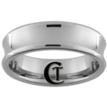 **Clearance** 7mm Pipe Concave Tungsten Carbide Ring -Size 10