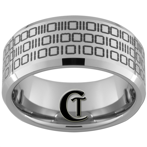 build your own custom tungsten carbide binary code ring - Build Your Own Wedding Ring