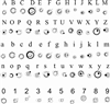 Specialty INSIDE Laser Engraving Gallifreyan Font Only