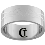 10mm Pipe Stainless Steel Satin Finish Tribal Design Ring - Limited Sizes