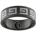 8mm Black Pipe Stainless Steel Celtic Design Ring - Sizes 9, 11 1/2, 12 1/2, 13