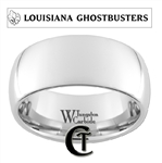 10mm Dome White Tungsten Carbide Louisiana Ghostbusters Design