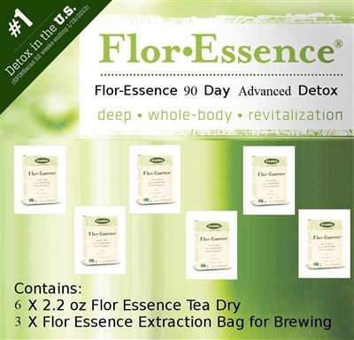 Flor-Essence Dry Tea 90 Day Advanced Detox
