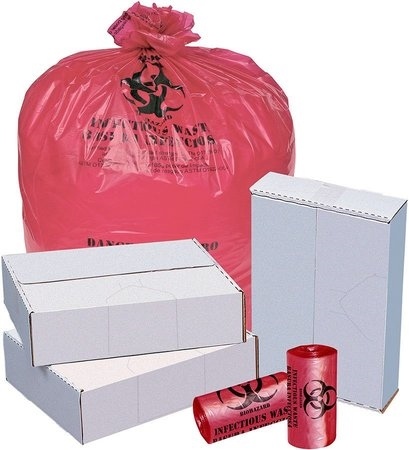 RED- BIO-Hazard, (12-16 gl),24 x 32,  1.20mil, 500 Pack,