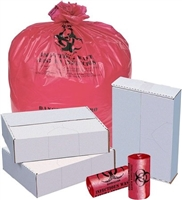 RED BIO HAZARD ISOLATION BAGS, 1.2 mil.