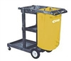 JANITOR CART, COMMERCIAL MULTI SHELF CLEANING CART