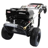 Pressure Washer, Gas Engine, Portable 4 Wheel Cart