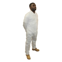 PolyLite Coverall- 'XL'-, zipper, no pockets, wrists & ankle (hood separate)