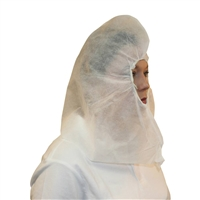 PolyLite HOOD, elastic face covers shoulders, universal,  white, 100
