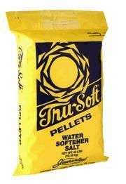 TRU SOFT EVAPORATED WATER SOFTENER SALT PELLETS, 50 LB BAG.