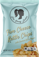 Five Cheese Kettle Chips 6 oz 12 Pack