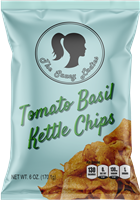 Tomato Basil Kettle Chips 6 oz 12 Pack