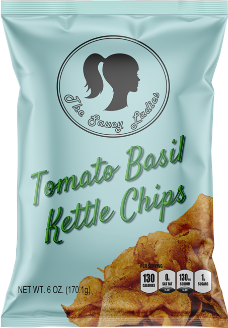 Tomato Basil Kettle Chips 6 oz 3 Pack