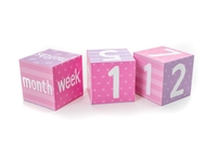 Pink Milestone Blocks