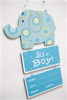 """It's A Boy"" Elephant Door Hanger"