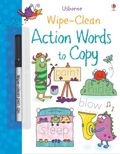 Wipe-Clean Action Words to Copy