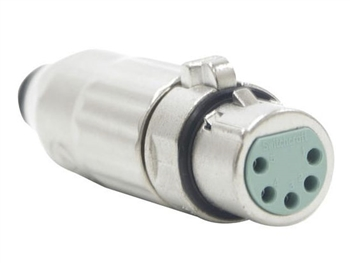 Switchcraft AAA5FZ - AAA Series 5 Pin XLR Female Cable Mount, Silver Pins / Nickel Metal - Bulk