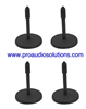 On-Stage DS7200B 4 PACK Adjustable Height Desktop Mic Stand Black
