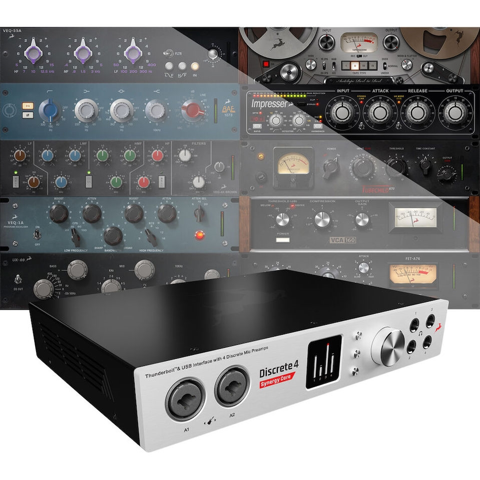 Antelope Discrete 4 Synergy Core Thunderbolt & USB Audio Interface with DSP  & FGPA Processing