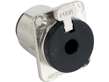 "Switchcraft E111L - E Series 1/4"" / 2 Conductor Mono Locking Jack, Nickel Finish / Bulk"