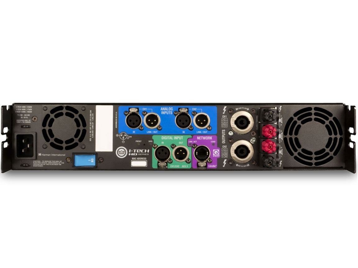 crown it12000hd i tech hd series power amplifier. Black Bedroom Furniture Sets. Home Design Ideas