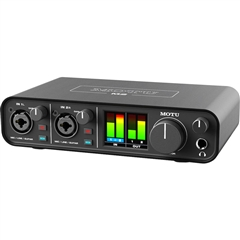 MOTU M2 2x2 USB-C Audio Interface for Recording, Mixing & Podcasting