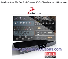 Antelope Orion 32+ Gen 3 32-Channel AD/DA Thunderbolt/USB Audio Interface