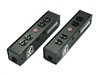 Whirlwind PL1T-420-BK - Power Link - PL1 Stringer, PowerCon True1 I/O, (2) HBL5352BK, indicator lamp