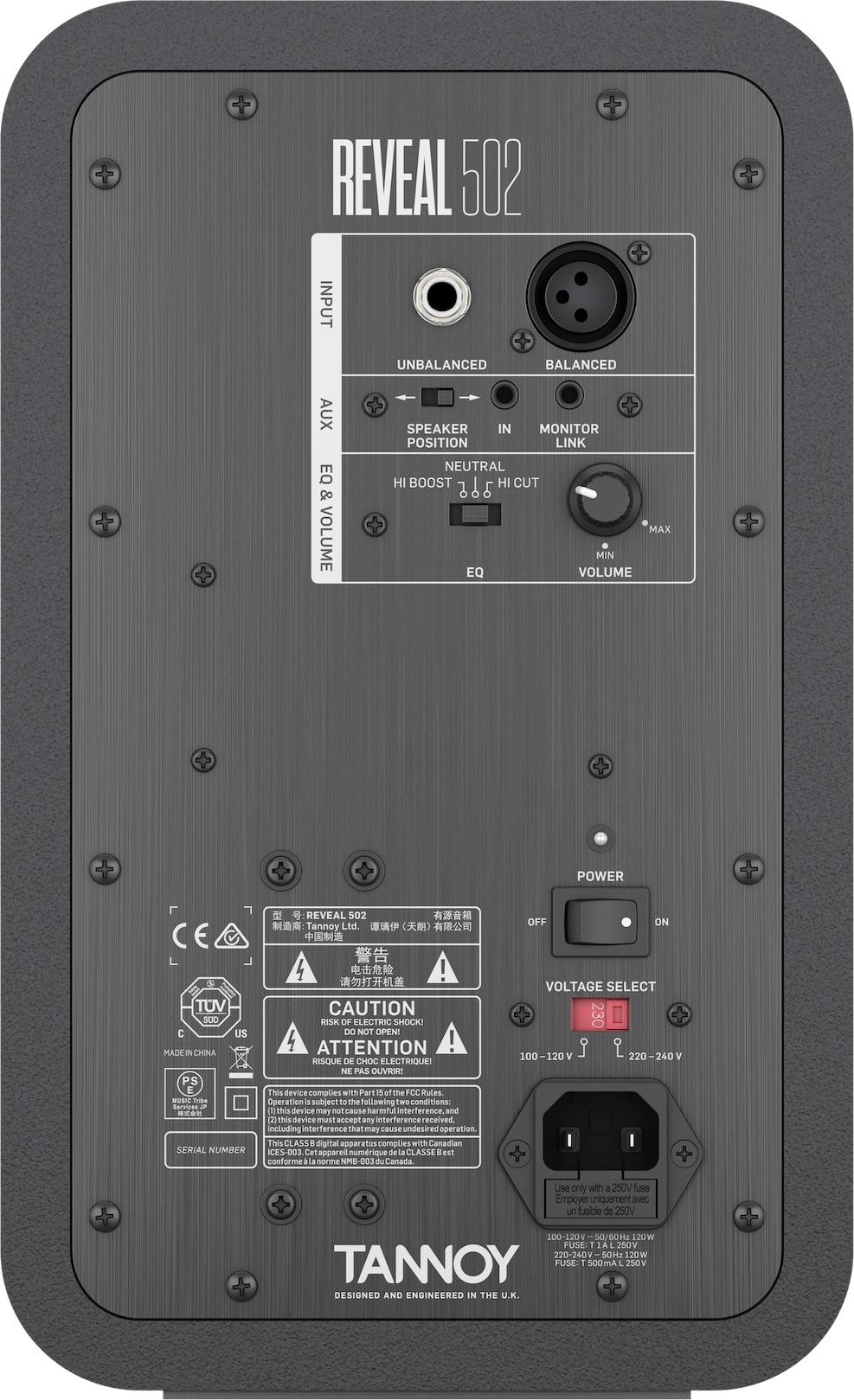 Tannoy REVEAL 502 Active Studio Monitor (Single)