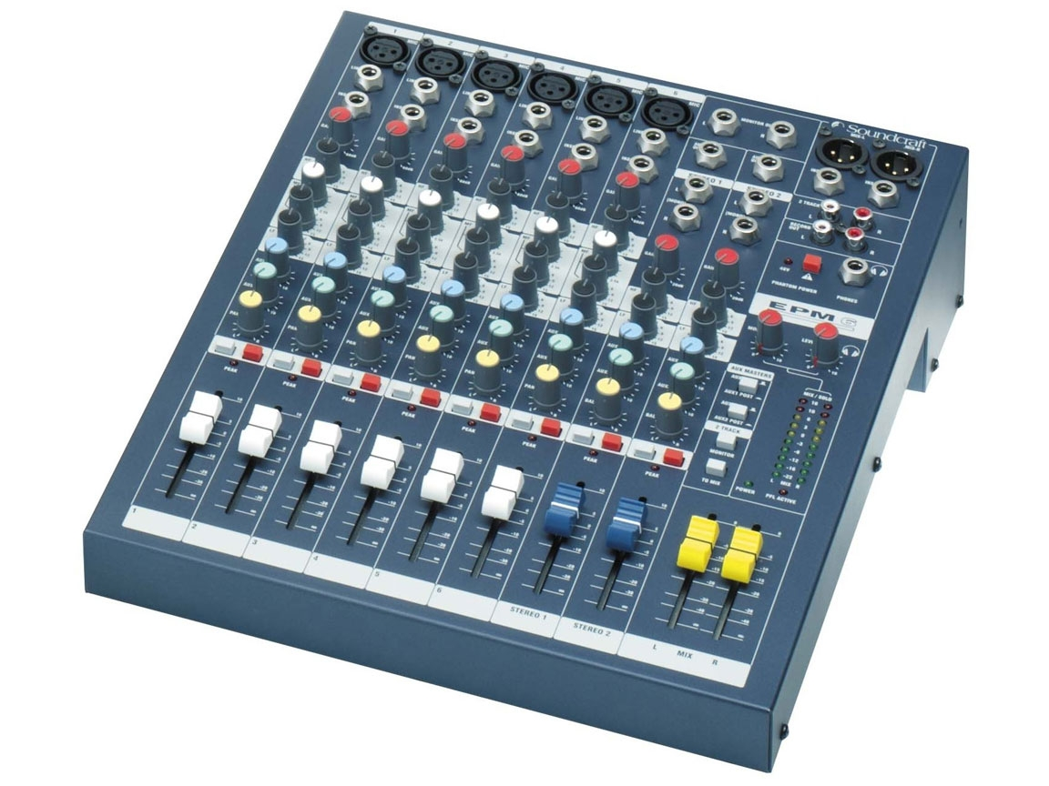 soundcraft epm6 6 channel mixer. Black Bedroom Furniture Sets. Home Design Ideas