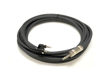 "Whirlwind SK325G16 - Cable - Speaker, 1/4"" male to dual banana, 25', 16 AWG"