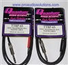 Quantum Audio TTBP-6S Pair  TT male to 1/4 inch TRS male Cable 6 Ft.