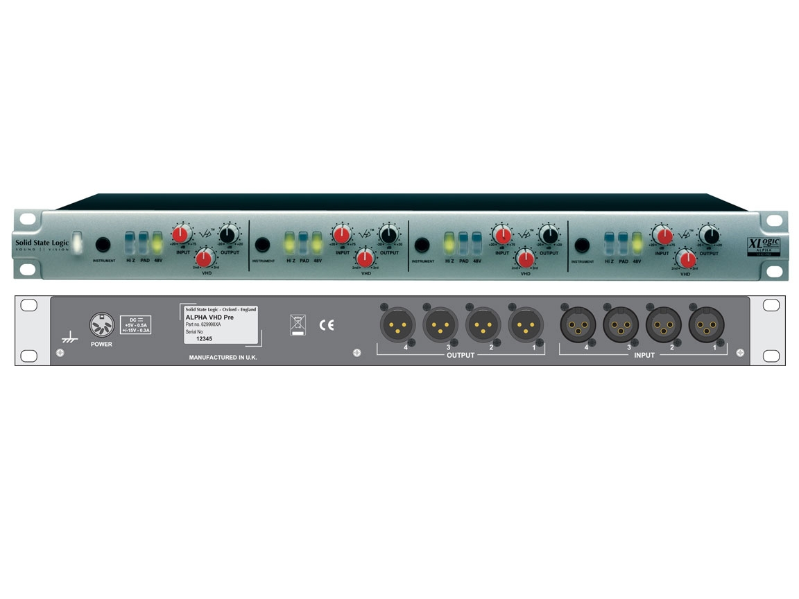 Solid State Logic Alpha VHD Pre - 4 channel mic preamp