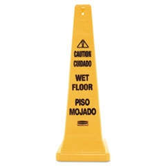 Rubbermaid 4 Sided Caution Wet Floor Sign