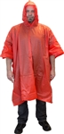 Safety Zone Red One Piece PVC Rain Poncho